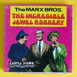 Vintage Super 8 Movie Castle Films The Marx Brothers 'Incredible Jewel Robbery'
