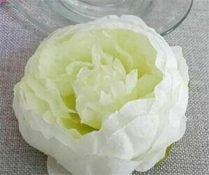 50pcs 10CM Artificial Fake Flower Silk Peony Heads Bulk Wedding Party-white