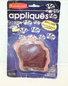 Vintage RUBBERMAID Tub Floor Safety APPLIQUES 7096 18 Mauve Shells NEW NOS Red