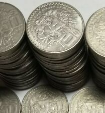 New listing Unsearched Large 50 Pesos $50 Mexico Mayan B culture 1982 - 1984 snake Coin