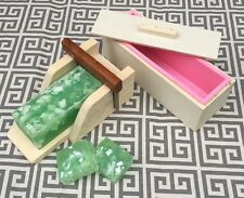 1 Wooden Soap Mold w/ Silicone Liner and 1 Wooden Soap Cutter Box w/ Cutter