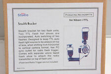 RPS Studio Stealth Bracket Flip Flash Mount for Nikon i-TTL RS-0428RT/N - NEW S1