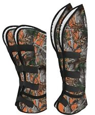 Showman Real Oak Orange Camouflage Cordura Nylon Shipping Boots! New Horse Tack!