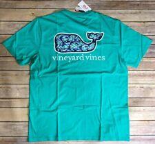 Nwt Vineyard Vines Shirt Men Short Sleeve Large Usa Marlin & Flowers Whale Fill