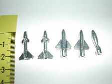 POPY BATTLE FEVER GOKIN BATTLE SHARK 5 SPARE SILVER MISSILES -GODAIKIN CHOGOKIN
