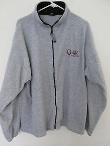 Men's Olympics Beijing Team USA 2008 Gray Fleece Jacket Full Zip Coat Size 2XL