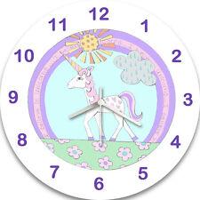 Unicorn Clock, Girls Clock, Kids Clock, Non Ticking, Silent, Wall Clocks