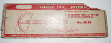 Vintage Craftsman 4029 Protractor Stainless Steel Machinist Precision Tool