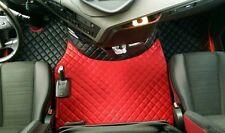 LKW Kunstleder  für VOLVO FH 4 ab 2013+Sitzsockelverkleidung Schwarz-Rot