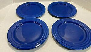 Pier 1 Imports New Essentials Azure Salad Plate Set of 4 Blue Brazil