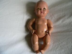 UNICA BELGIUM Antique Composition Baby doll Seated 10'' RARE jointed