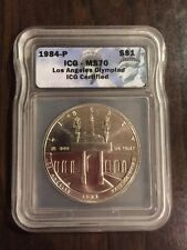 1984-P Olympics ICG MS70 Commemorative $1 Silver Dollar - VERY RARE!!!