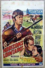 belgian poster western THE FAR HORIZONS, FRED McMURRAY, CHARLTON HESTON