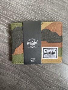 Herschel Hank Camo Wallet Mens Designer RFID Card Holder Quality Leather