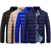 Men Winter Skiing Warm Down Coat Slim Thick Zip Outerwear Parka Jacket Moda