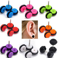 Newest 2pcs Acrylic Fake Ear Barbell Cheater Expanders Plug Tunnel Stretcher Kit