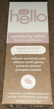 Hello Sensitivity Relief Fluoride Toothpaste Soothing Mint With Coconut Oil 4.0z