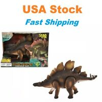 Electric Stegosaurus,Cretaceous Dinosaur Ages,Dragon Toy, Walk/Light/Sound, 12''
