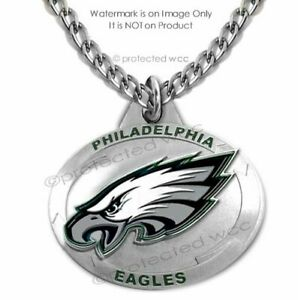 PHILADELPHIA EAGLES NECKLACE - STAINLESS STEEL CHAIN NFL FOOTBALL  FREE SHIP #1