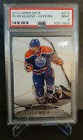 2011 UPPER DECK #214 RYAN NUGENT-HOPKINS YG RC UD YOUNG GUNS ROOKIE PSA 9