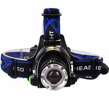 LED 5000 LM T6 CREE XM-L XML Zoomable Headlamp Headlight Head Torch Light Bright