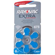 """""""6x Rayovac EXTRA Hörgeräte-Batterie Z675 PR44 blau"""