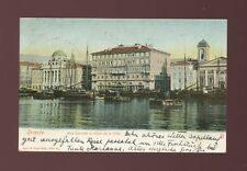 Italy TRIESTE Riva Carciotti Hotel de Ville u/b used 1902 PPC