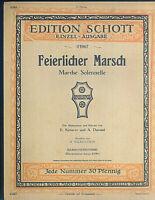 E. Ketterer, A. Durand ~ Feierlicher Marsch ~ Harmonium. alt, übergroß