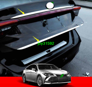 2X Steel Chrome Rear Trunk Lid Gate Edge Cover Trim FOR 2019 2020 Toyota Avalon