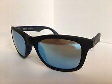 New Polarized REVO RE 1000 01 Huddie 54mm Matte Black Blue Mirrored Sunglasses