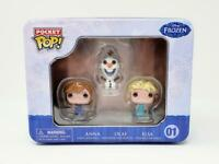 Disney FROZEN Pocket Pop 3 Mini Figure Tin Anna Olaf Elsa NEW