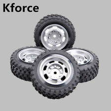 4X Rubber 68mm Rally Tires&Wheel Rim Kforce Racing For HPI HSP 1:10 RC Car