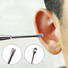 2 in1 Ear Wax Remover Removal Stainless Tool Pick Picker Clean Cleaner~