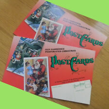 Book of 28 Old Fashioned Perforated Christmas Postcards ready to tear out & mail
