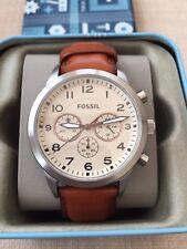 Reloj con Cronógrafo Para Hombre Fossil piloto Nuevo Y En Caja RRP £ 109.00