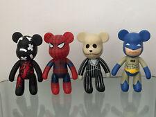 Bearbrick 5'' – Lot of 4 vinyl figures - Rare bootleg toys Spiderman Batman
