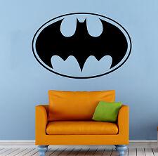 Batman Logo Wall Decal Superhero Vinyl Sticker The Dark Knight Home Decor (7b2j)