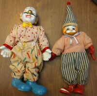 Vintage ceramic clown figurines made in china