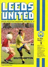 Leeds United v Southampton programme, League Cup Semi Final, January 1979