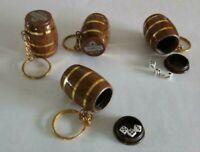 Tsing Tao Dice Game Set Mini Wine Barrel Keychain Cup Shaker Casino Key Ring HK