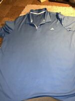 Adidas Climacool Golf Polo Shirt Mens Light Blue Performance Short Sleeve P39