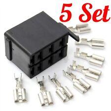 5x Rocker Switch Wiring Connector Plug Socket & Female Spade Terminals Caravan