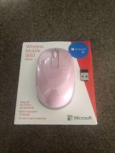 Microsoft Wireless Mobile Mouse 1850 - Light Orchard Pink ** DAMAGED BOX **