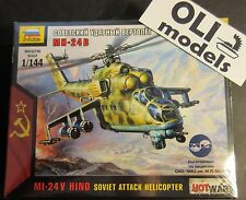 1/144 Mi-24 V HIND Soviet Attack Helicopter  Art of Tactic HOT WAR - Zvezda 7403