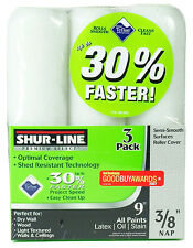New Shur-Line 55506 Premium Select 3/8-Inch Semi-Smooth Roller Cover 3-Pack