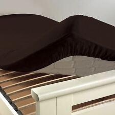 """Drap housse 160x200cm """"CACAO"""" 100% Coton 57 Fils/cm² Bonnet 25cm"""