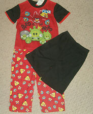 NWT Angry Birds 3-pc Pajamas Set Size 8 Too Cool !!