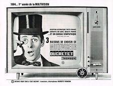 PUBLICITE ADVERTISING  1964   DUCRETET THOMSON téléviseur  multiviseur