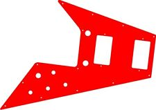 Pickguard Pick Guard Scratchplate Gibson Flying V Guitar Red Acrylic Free Ship