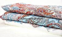 """Indian 5 Yard Fabric Paisley Print Voile Garment Care Cloth Dress Material 44"""""""